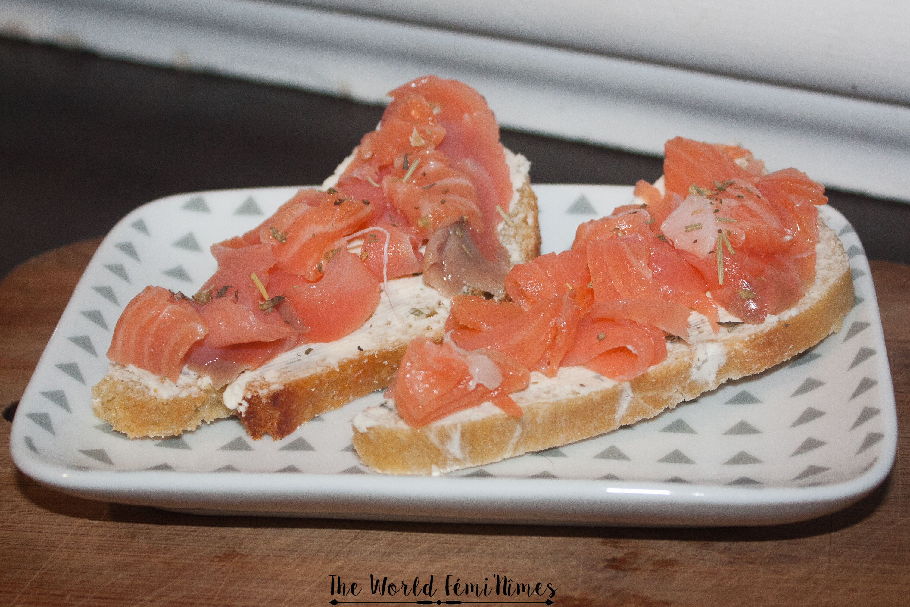 Tartines salées saumon fromage frais