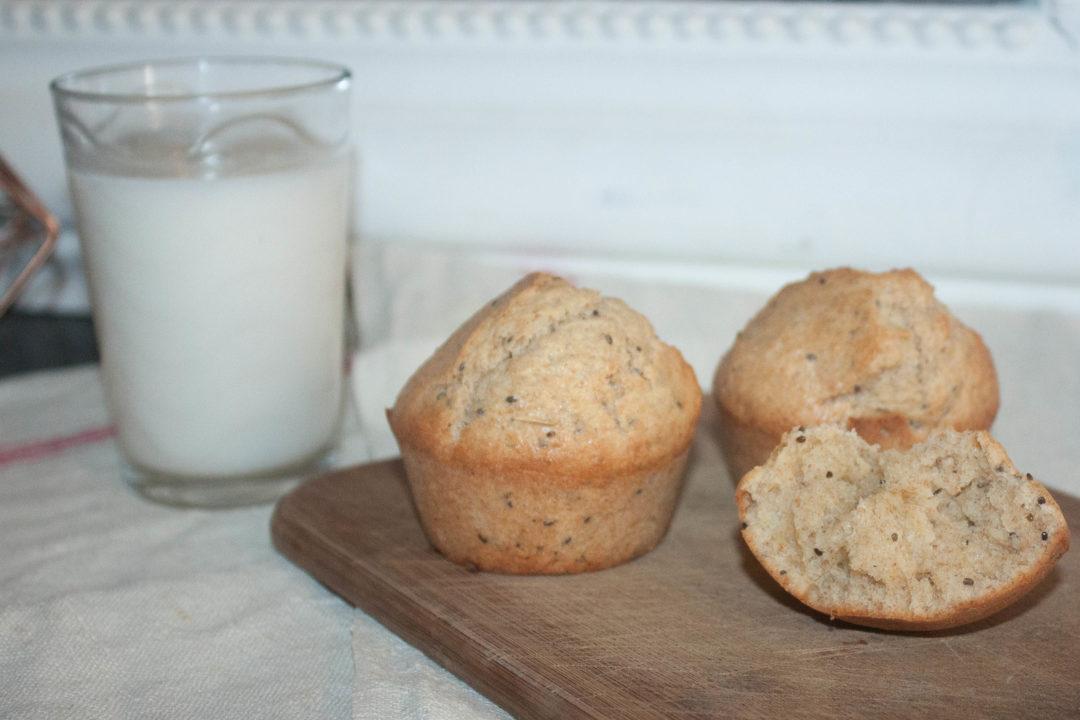 Muffins au citron & graines de chia