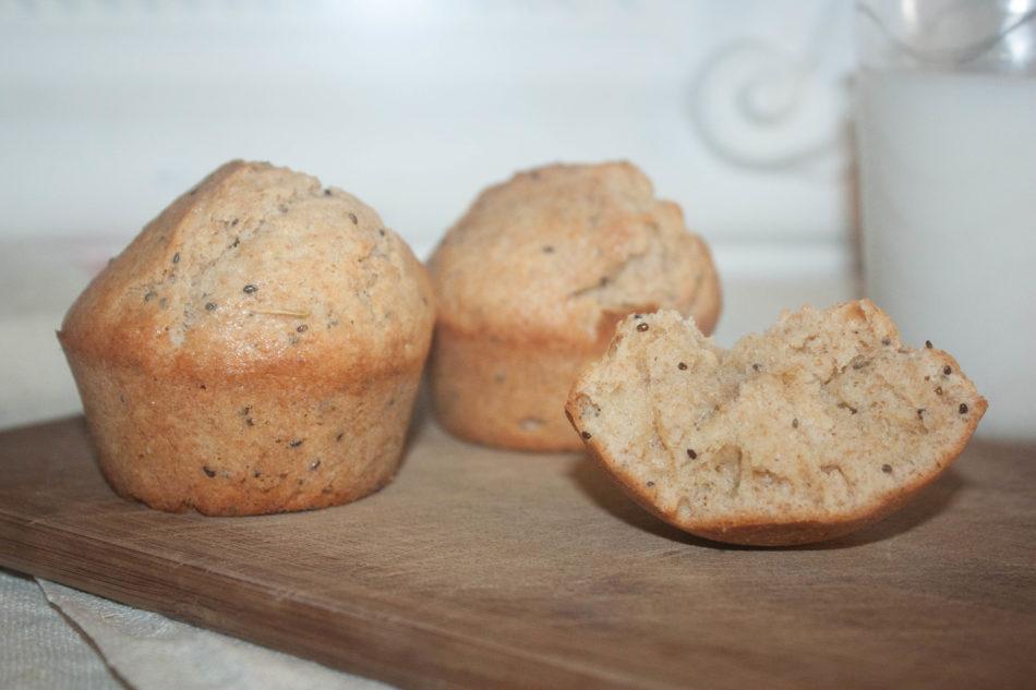 Muffins au citron et graines de chia