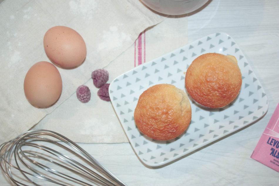 Muffins au yaourt au lait de brebis & framboises
