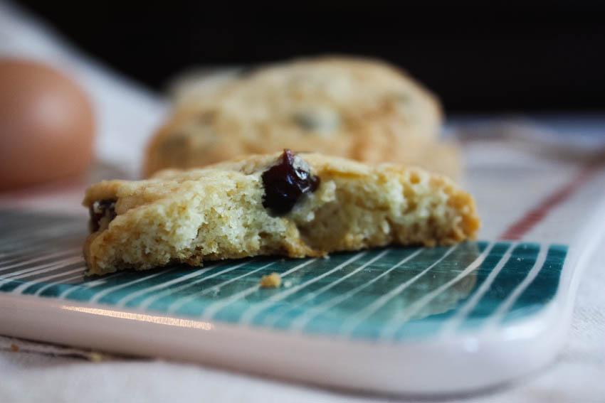cookies chocolat blanc & cranberry