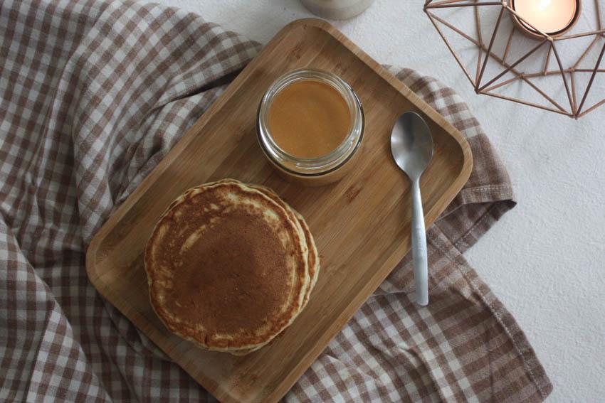 Pancakes et caramel beurre salé